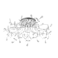 Crystal Deckenleuchte, Ø: 77 cm, Chrom