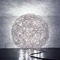 Fil de Fer Bodenleuchte, Ø: 30 cm, Aluminium, dimmbar