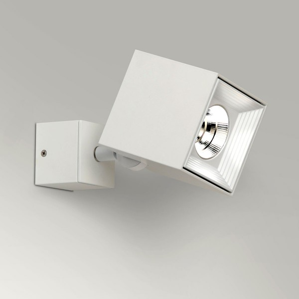 Milan Dau Spot LED Wand- / Deckenstrahler, weiß lackiert