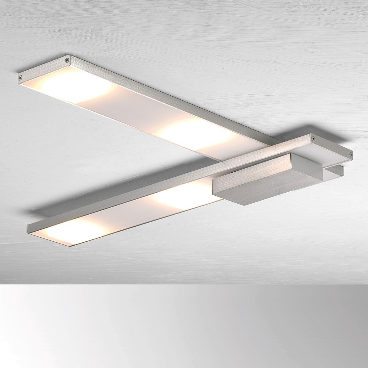 Bopp Slight LED Deckenleuchte, 50 x 50 cm, Aluminium geschliffen