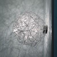 Fil de Fer Wand-/Deckenleuchte, Ø: 30 cm, Aluminium
