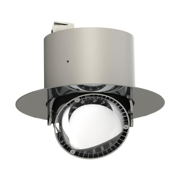 Top Light Puk Inside LED Deckeneinbauleuchte, rund, Chrom, Linse klar