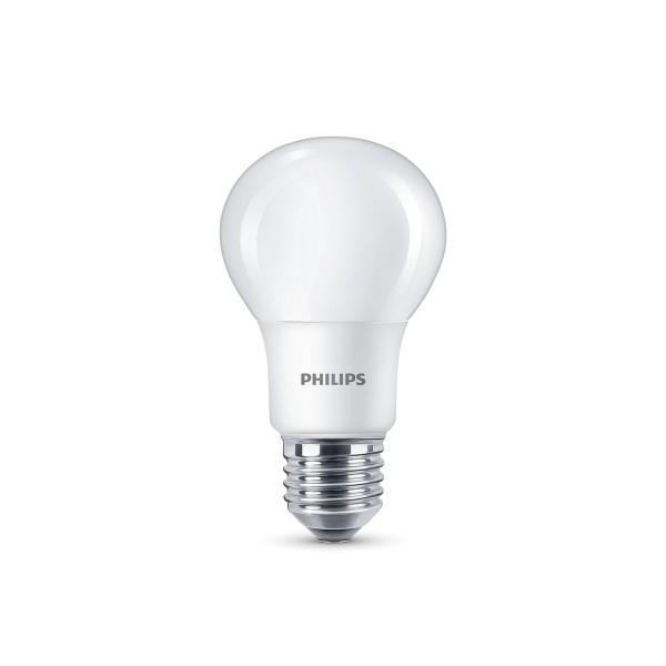 Philips LED Lampe E27 7,5 W, neutralweiß, matt