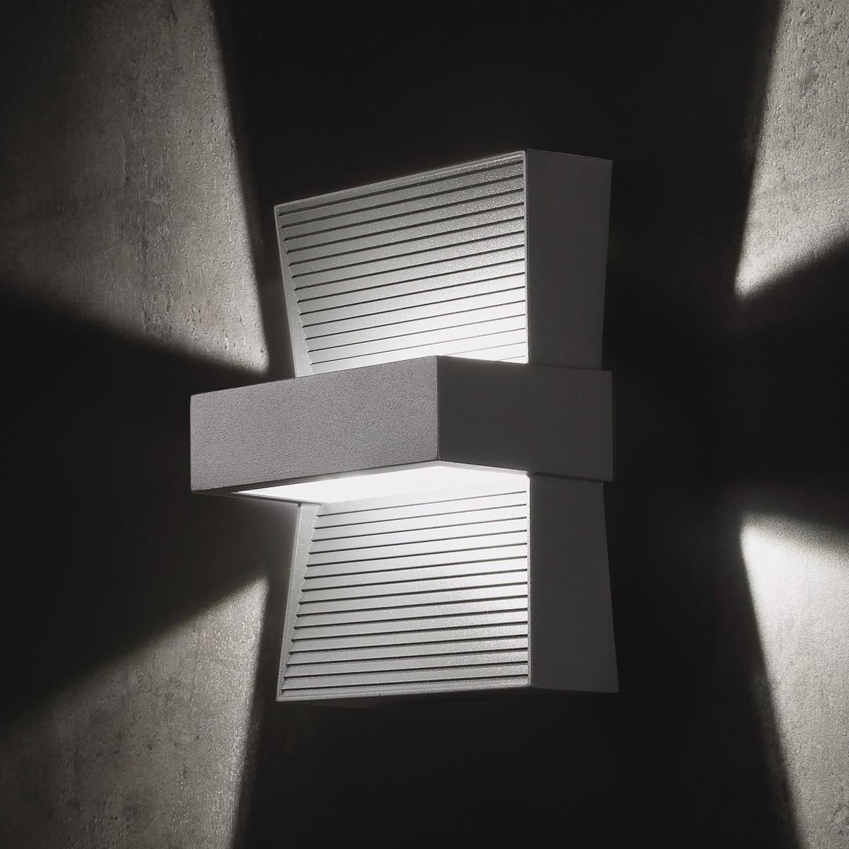 Lupia Licht Ponti Außenwandleuchte, weiß