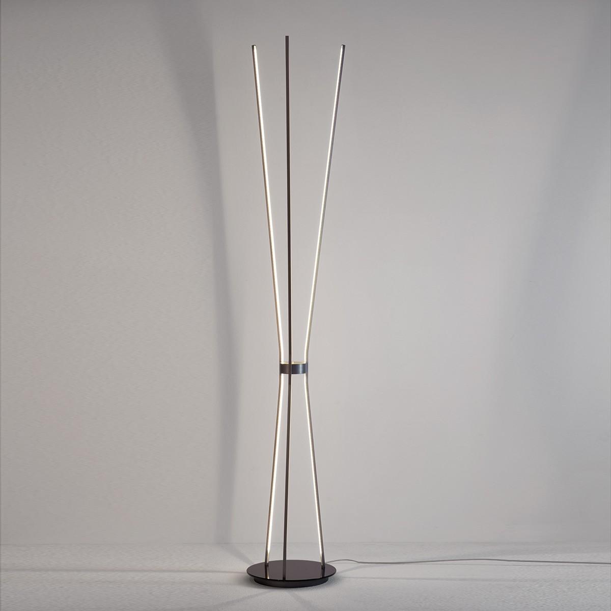 Escale Jazz LED Stehleuchte, anthrazit, Glas: schwarz