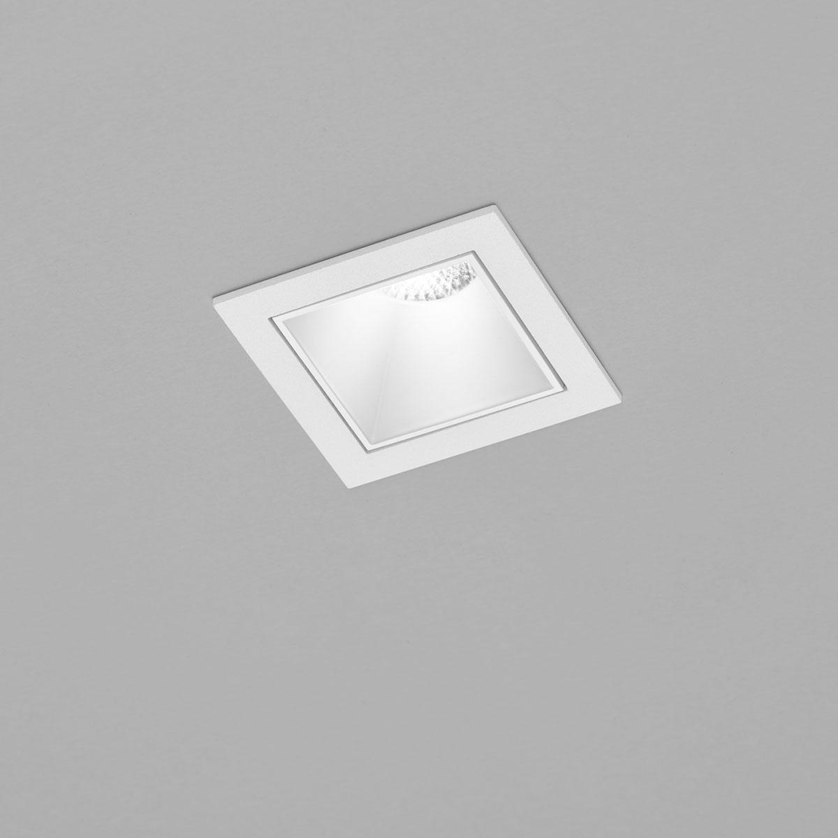Helestra Pic LED Deckeneinbaustrahler, eckig, weiß