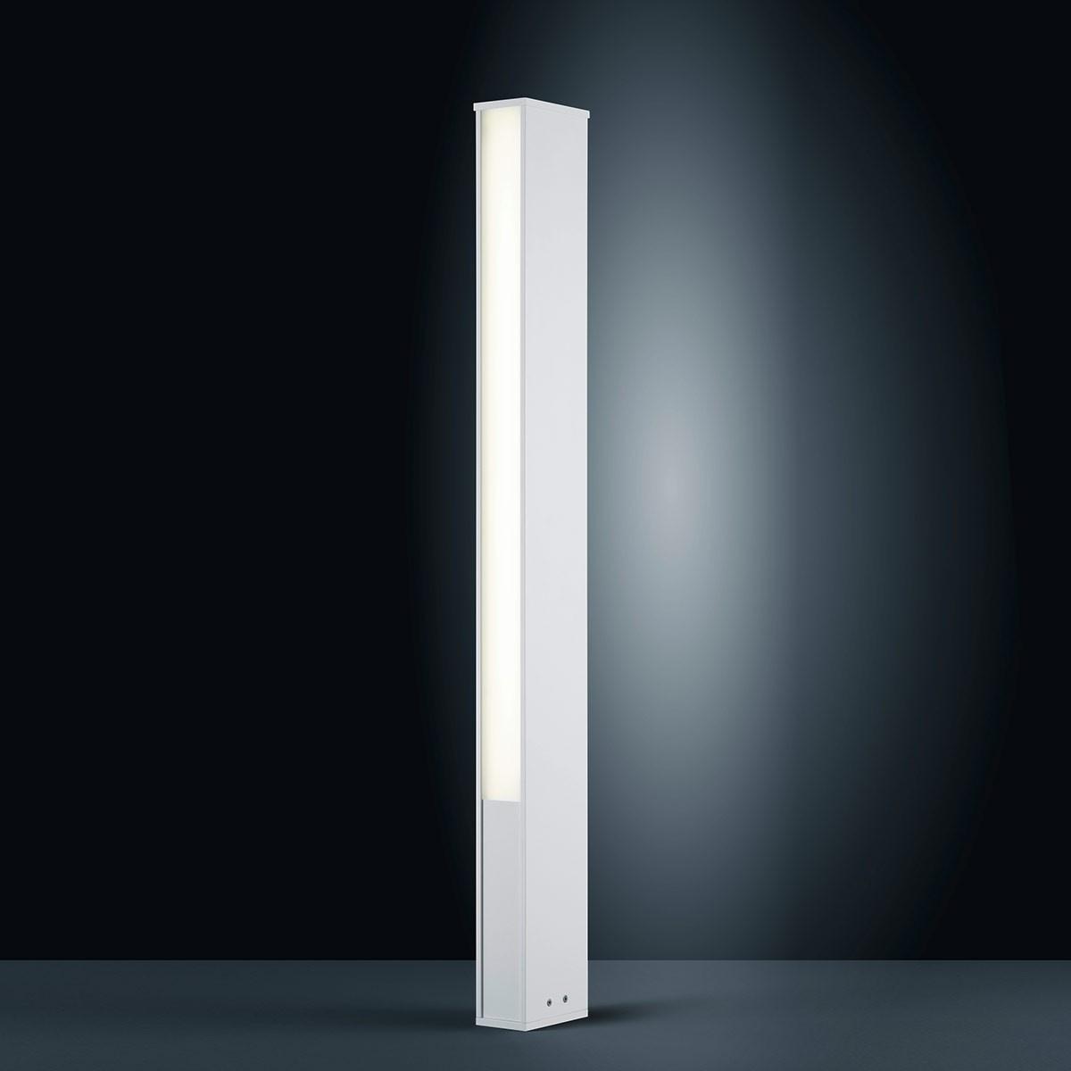 Helestra Tendo LED Außenstehleuchte, weiß matt