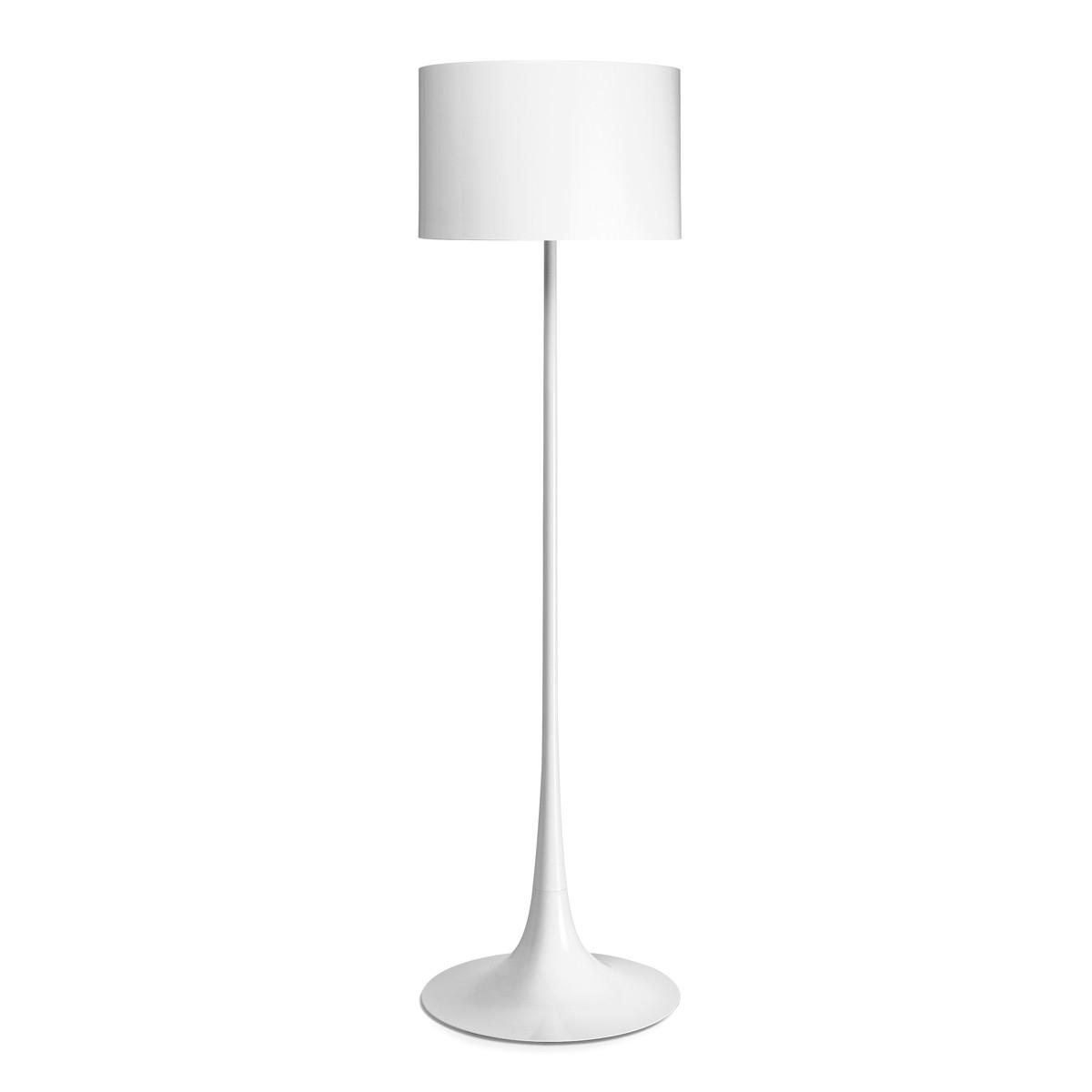 Flos Spun Light F Stehleuchte, weiß glänzend