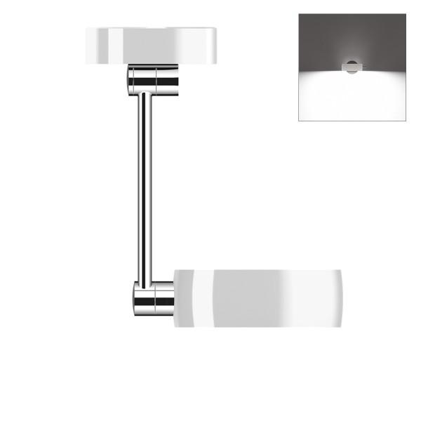 Occhio Sento B LED soffitto singolo up, 30 cm, Chrom / weiß glänzend