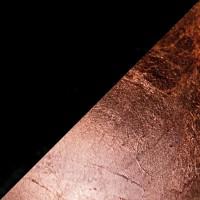 Lederam W Wand- / Deckenleuchte, Ø: 17 cm, Scheiben: schwarz/Kupfer