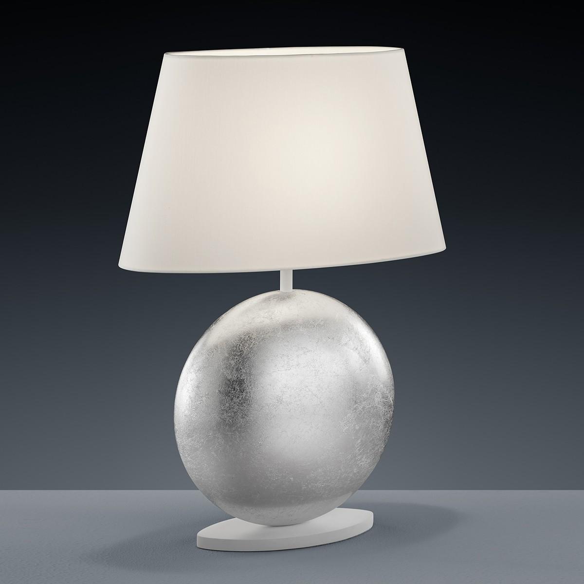 Luce Elevata Mali Tischleuchte 36 x 16 cm, Blattsilberoptik - weiß