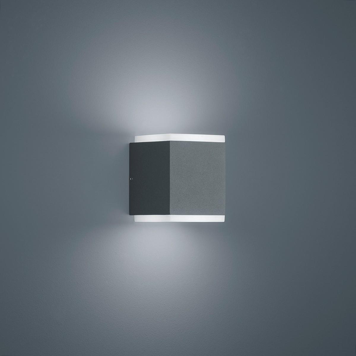 Helestra Kibo LED Außenwandleuchte, graphit
